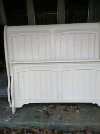 white wooden bed headboard and footboard Birmingham, 35235