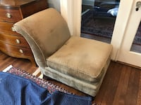 brown and gray fabric sofa chair ALEXANDRIA