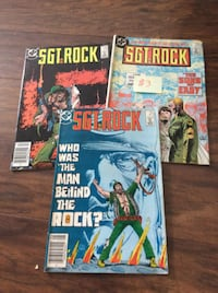 JUST REDUCED comic books SGT Rock (3)  Rockville