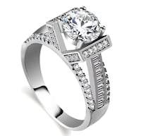 925 sterling silver stamp,aaa cz diamond ring size 5-10
