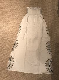 White maxi dress with pattern Barrie, L4M 2A2