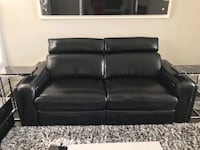 Black leather 2-seat sofa Washington, 20024