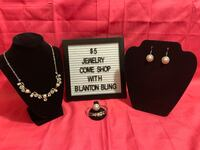 Silver and necklace, earrings, bracelet and ring set Gaithersburg, 20877