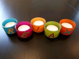 Relax glass candle holders