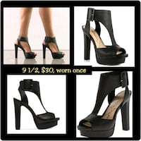 women's pair of black leather pumps Tuscaloosa