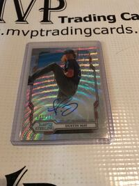 2019 Bowman Sterling Wave Refractor Dustin May Rookie Auto Card /125 Los Angeles, 91325