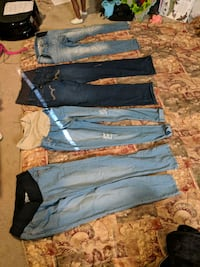 blue and black denim jeans Kansas City, 66109