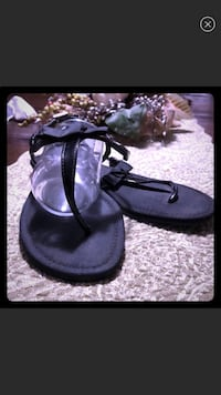 pair of black leather sandals El Centro, 92243