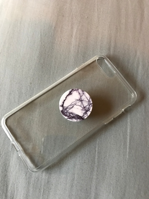 outlet store 94009 1f71f Clear case with popsocket