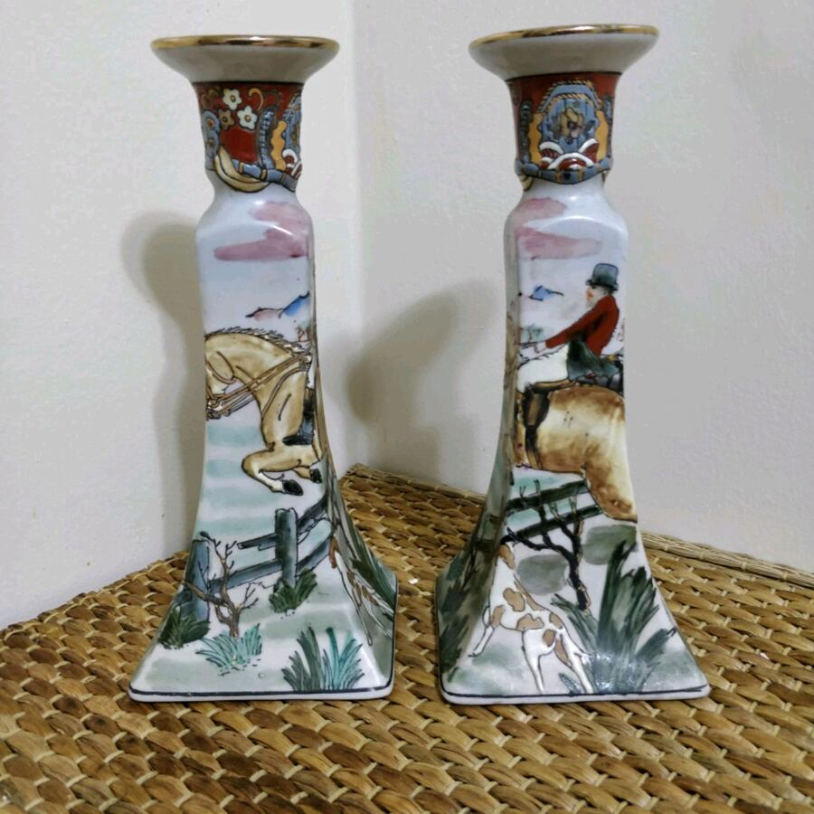 "Pair of 9.5"" tall gorgeous candle sticks"