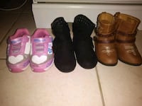 Size 5 toddler baby girl boots sneakers