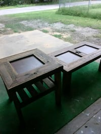Hand made coffee table and end table.. Shawnee