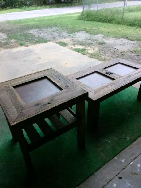 Hand made coffee table and end table..