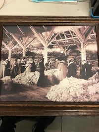 Framed vintage wool mill picture Eagan, 55122