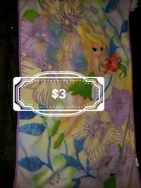 white, blue, and green floral textile Wenatchee, 98801
