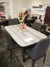 Marble top table (real) and great chairs Hyattsville, 20781