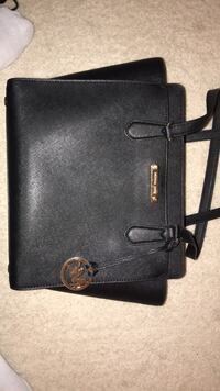 Black leather michael kors tote bag Sterling
