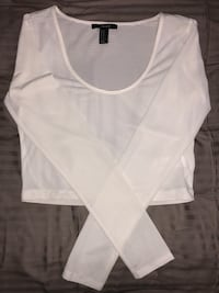 White forever 21 crop top Whitby, L1N 0J8