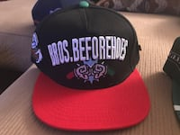 red and black Bros.beforehoes fitted cap