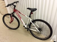 white and red hardtail mountain bike VANCOUVER