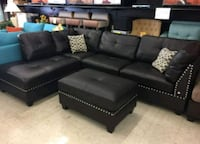Brand New Espresso Bonded Leather Sectional Sofa  40 km