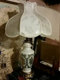 white and blue table lamp Hamilton