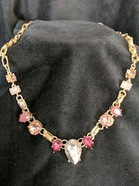 *NWT* Gold and Pink Gemstone Necklace Leesburg, 20176