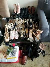 assorted pairs of shoes lot Los Angeles, 91367