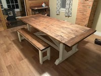 8x3 farmhouse table with 2 benches  Taneytown, 21787