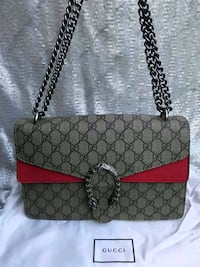 Gucci Dionysus Canvas Chain Shoulder Bag Bethesda