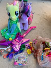 2 large my little ponies, guitar, misc toys Brighton, 80601
