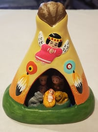 Hand Painted Tipi Nativity from Peru