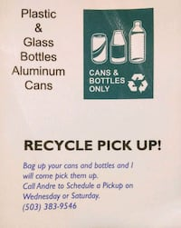 I can get rid of your bottles & cans!