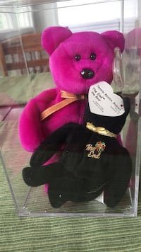red and black bear plush toy Alexandria, 22309