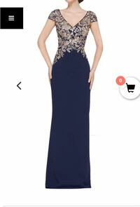 Rina di Montella Navy Evening Gown