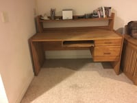 Solid oak desk, pick-up only Upton