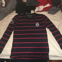 black and red stripe long sleeve shirt Vancouver, V5N 4E7