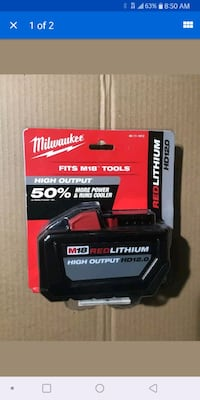 Milwaukee m18 12amp battery San Fernando, 91344