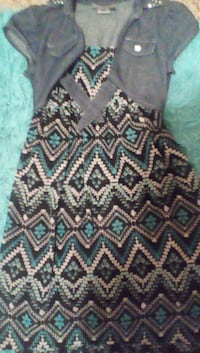 Girls blue and black dress size 10-12 Greeley
