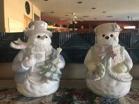 Ceramic Snowman Couple Chandler, 85286
