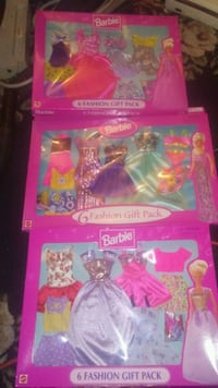 3 sets of 6 barbie fashion gift packs Spokane, 99208