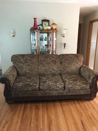 brown and gray floral fabric 2-seat sofa St. Louis Park, 55426