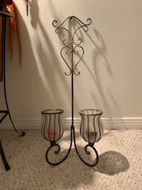Wall metal candle holder 32 inches high x 13 wide