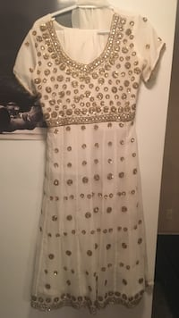 White Indian suit with silver and gold sequence  Brampton, L6T 3G6