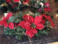 Christmas swag with red Poinsettia flowers accent St Catharines, L2S 3R7