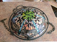 Stained glass hanging light fixture 59 km