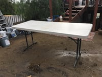 Lifetime Adjustable-Height Table 6 ft. Almond color. Good condition! $150 new. $45 FIRM San Marcos, 92078