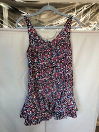 women's black and pink floral sleeveless dress Vancouver, 98682