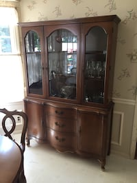 China cabinet with buffet table & dining room table with 2 leaves & 6 chairs Florissant, 63033