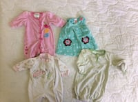 baby girl newborn clothes and open ended sleep sac  Belleville, K8P 3B6